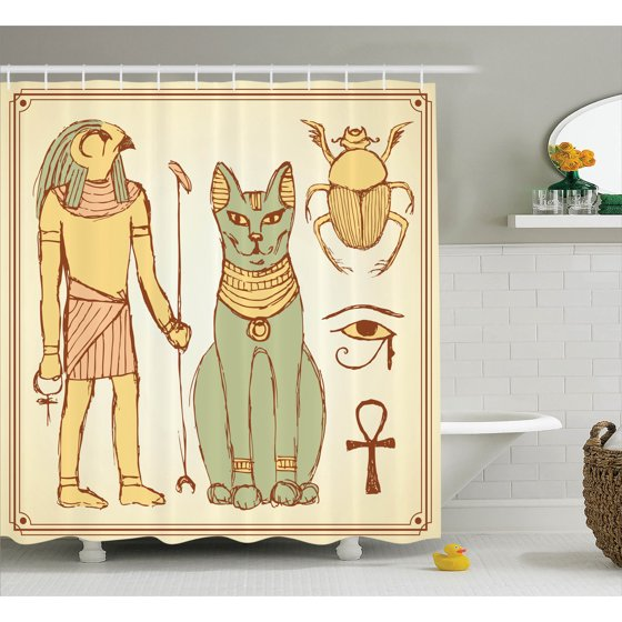 Egyptian decor graphic of ancient egyptian religion gods for Bathroom accessories egypt