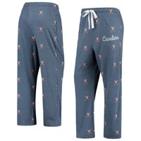 Virginia Cavaliers Women's Lounge Allover Logo Print Pants - Navy