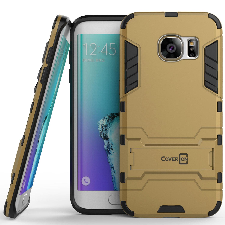 CoverON Samsung Galaxy S7 Edge Case, Shadow Armor Series Hybrid Kickstand Phone Cover