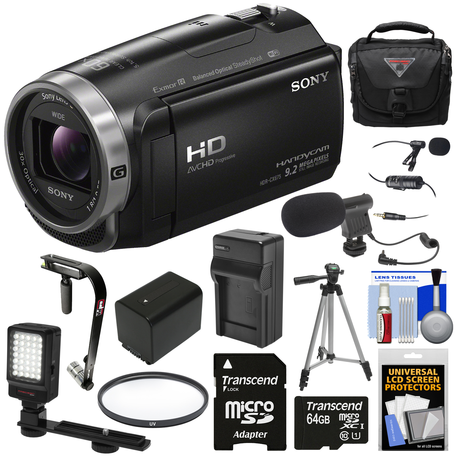 Sony Handycam HDR-CX675 32GB Wi-Fi HD Video Camera Camcor...