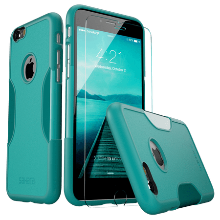 SaharaCase® iPhone 6/6s Case Classic Protective Kit Bundle with ZeroDamage® Tempered Glass Screen Protector – Teal