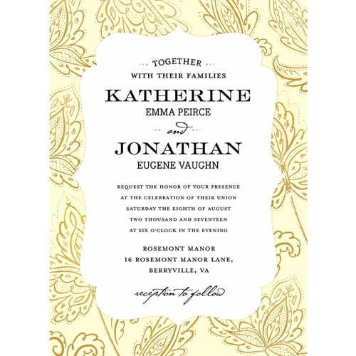 Glamorous Blooms Standard Wedding Invitation