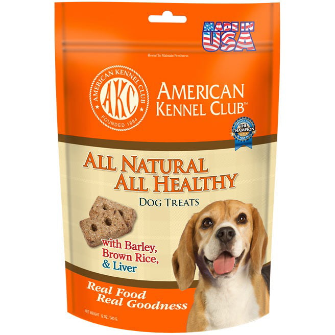American Kennel Club ALL NATURAL ALL HEALTHY Dog Treats Barley, Brown Rice & Beef Liver Recipe by Pet Brands