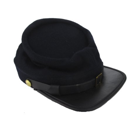 Reproduction Civil War Kepi Cap for Union Reenactors - U.S. Blue - LARGE (7 1/2)