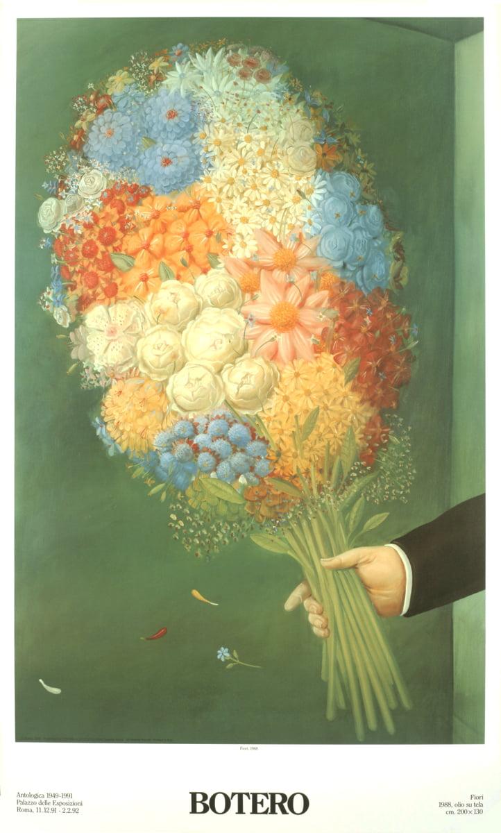 Fernando Botero-The Bath-1991 Poster