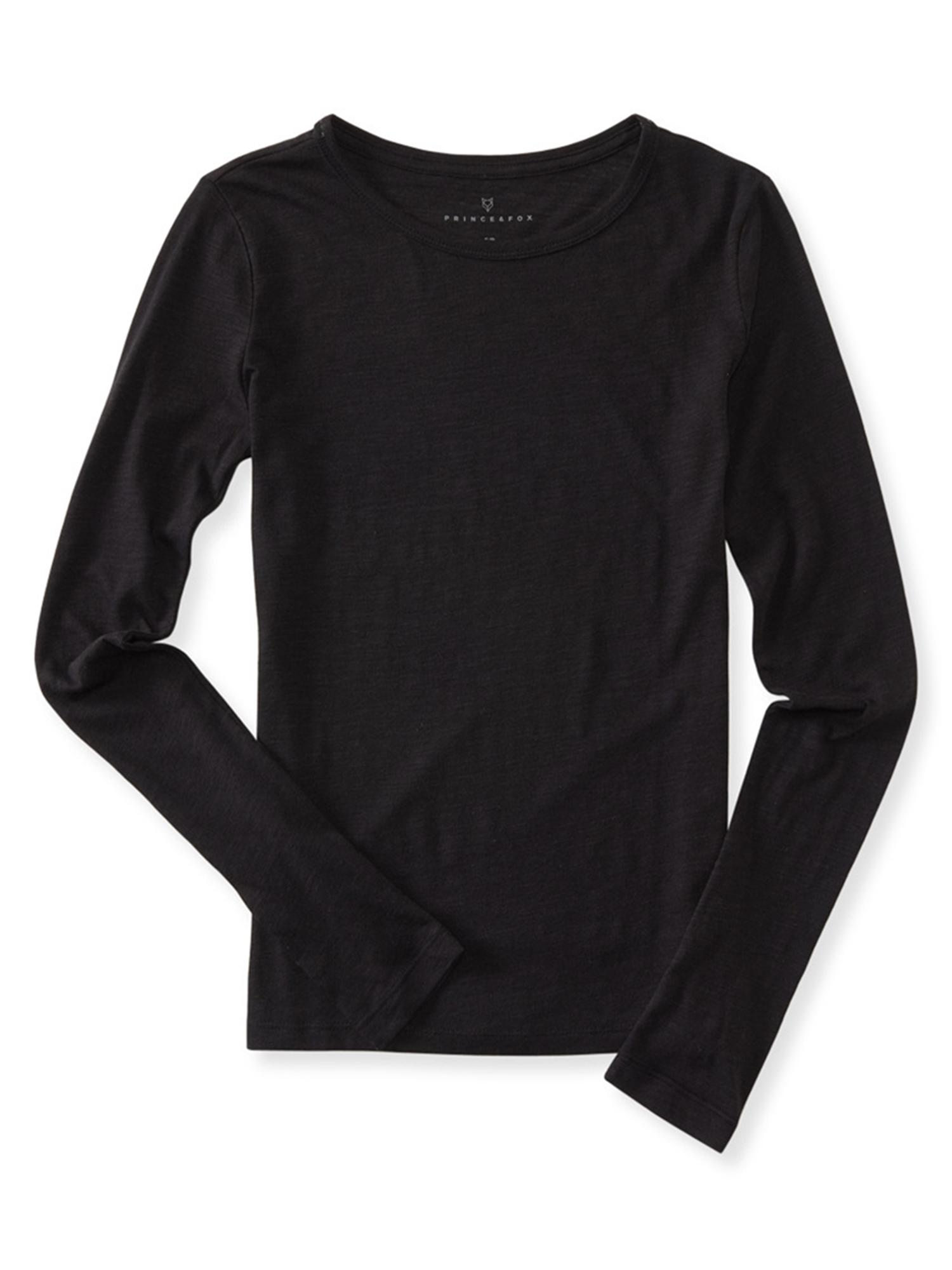Aeropostale Juniors Long Sleeve Basic T-Shirt