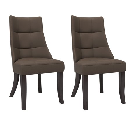 CorLiving Antonio Tufted Dining Accent Chairs, Set of 2