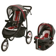 Graco Fastaction Fold Jogger Click Connect Travel System - Chili Red