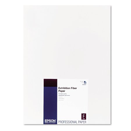 Epson Exhibition Fiber Paper, 13 x 19, White, 25 Sheets -EPSS045037