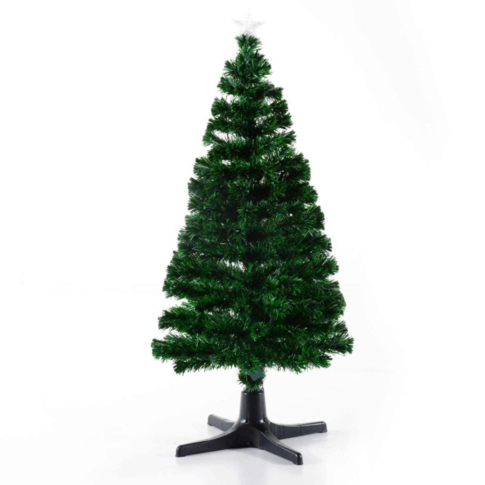 Pre Lit Rotating Christmas Tree.Homcom 5 Ft Pre Lit Led Artificial Rotating Christmas Tree With Star Topper