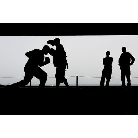 LAMINATED POSTER Silhouettes Boxing Workout Training Exercise Poster Print 24 x (Bowling Silhouette)