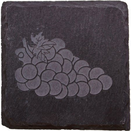 Thirstystone slate drink coasters etched grapes - Slate drink coasters ...