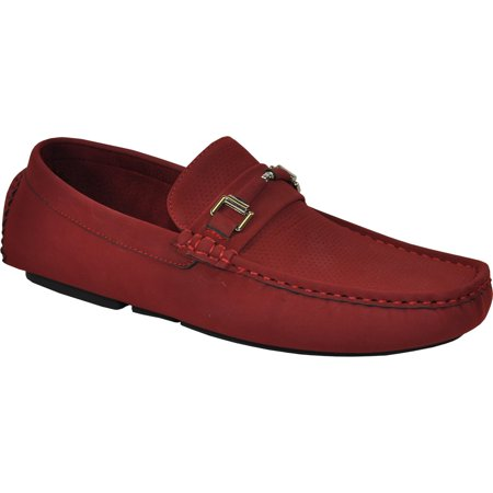 Bravo! Men Casual Shoe Todd-1 Driving Moccasin Red 8M US