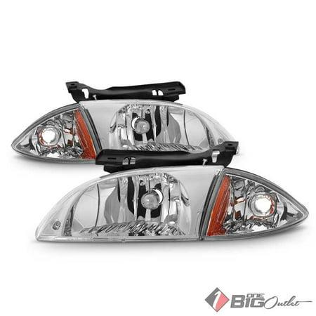 Cavalier Headlamp Assembly (2000-2002 Cavalier Headlights and Corner Replacement Set Driver+Passenger Pair L+R 2001 )