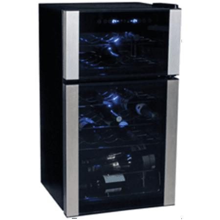 Koolatron WC29 29 Bottle Dual Zone Electric Wine Cooler with Digital Temperature Controls