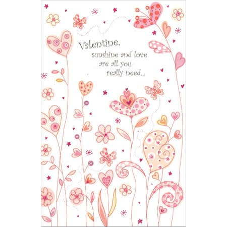 Freedom Greetings Field of Heart Flowers: Sunshine & Love Valentine