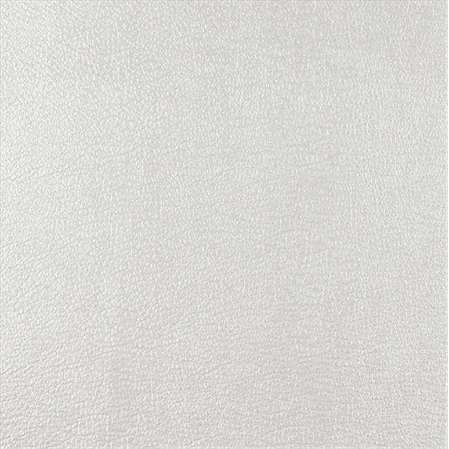 Designer Fabrics G357 54 in. Wide White, Metallic Leather Grain Upholstery Faux Leather