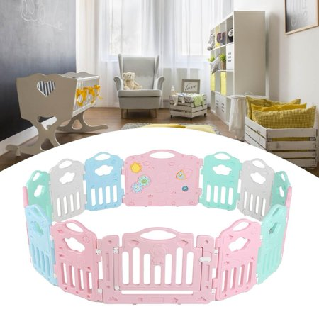 1Pc Multi Sided Panel Baby Playpen Interactive Kids Safety Gates Child