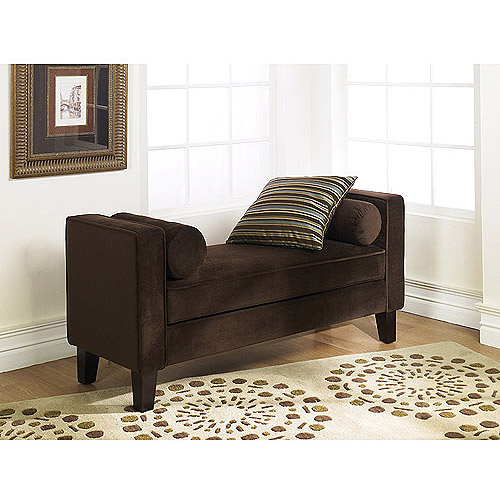 Avenue Six Curves Bench, Chocolate Velvet by Avenue Six