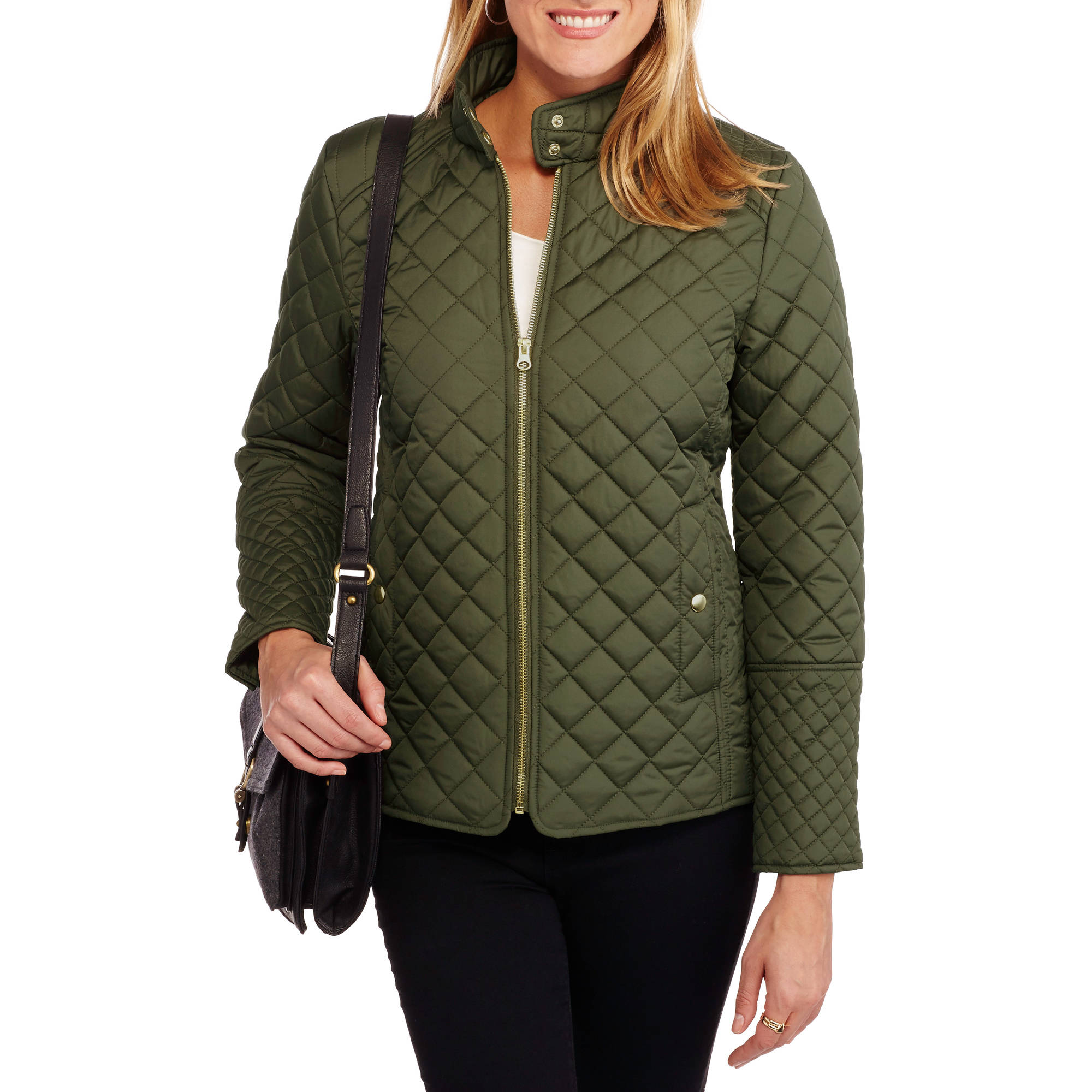 Womens Quilted Jacket Walmart