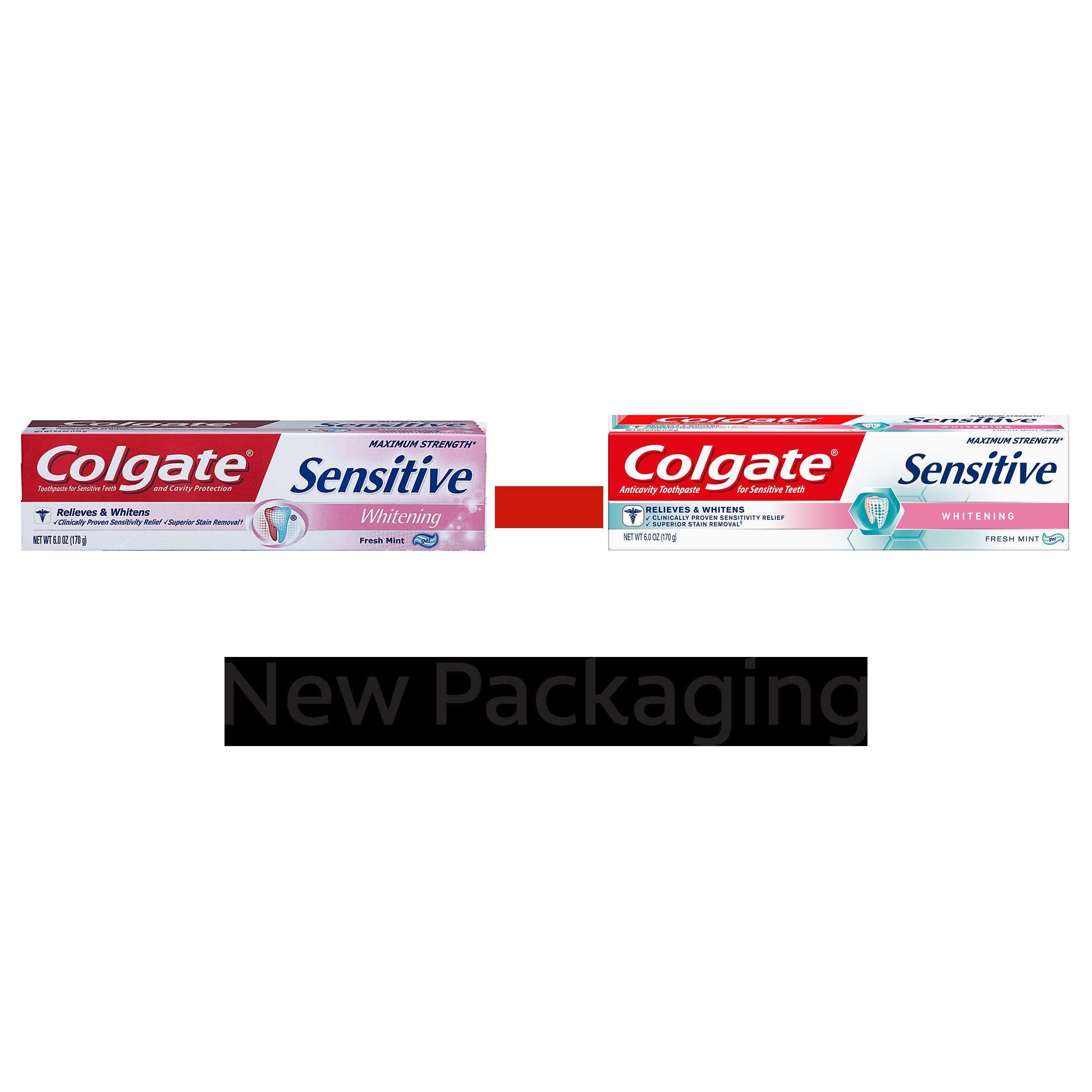 Colgate Sensitive Maximum Strength Whitening Toothpaste 6 Oz Twin Cavity Protection Fresh Cool Mint Pasta Gigi 180g 4 Pcs Pack