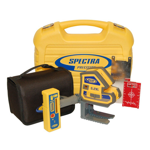 Spectra Precision 5.2XL-2 Point and Cross Line Laser Kit