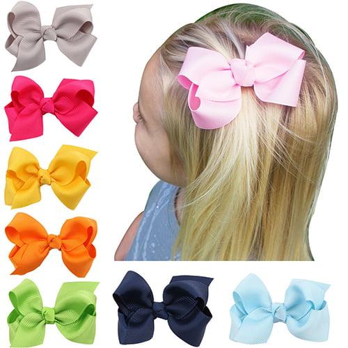 Moderna Lovely Bow Bowknot Girl Kids Hair Duckbill Clip Solid Color Hair Accessory Gift