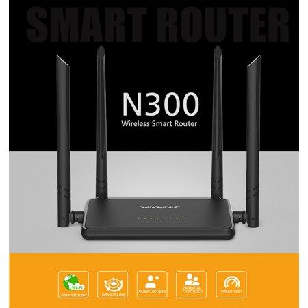 Wavlink N300 Mini Home Wireless Wi-Fi Router 5dBi 2.4G External Antennas WPS Button Broadband ROUTER