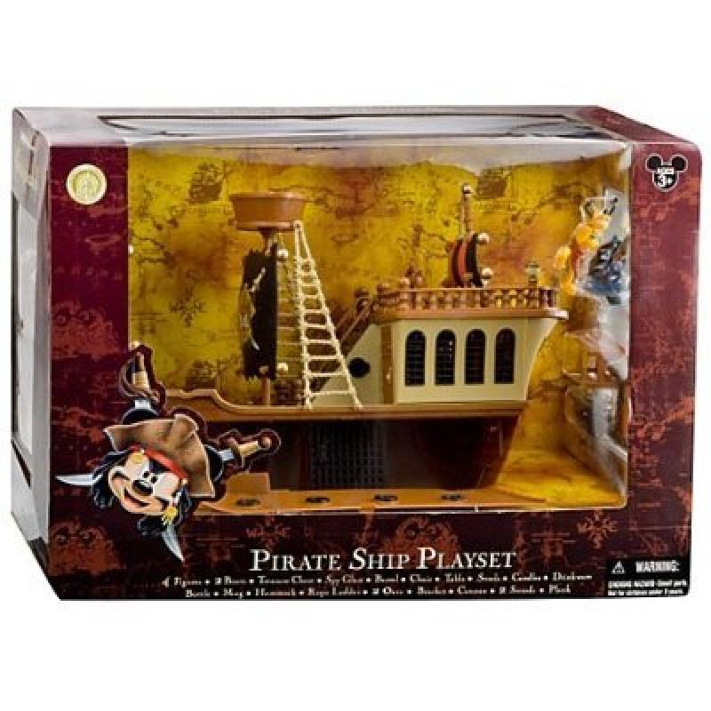 Deluxe Mickey Mouse Pirates of the Caribbean Pirate Ship Play Set by