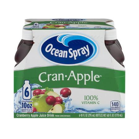 (4 Pack) Ocean Spray Juice, Cran-Apple, 10 Fl Oz, 6