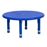 Lancaster Home 33'' Round Plastic Height Adjustable Activity Table