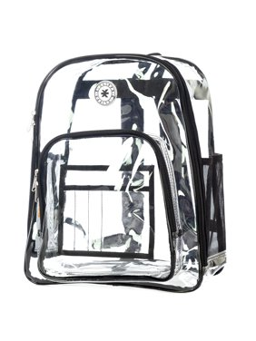 cf8690fcf3ac Product Image Heavy Duty Clear Backpack See Through Daypack Student  Transparent Bookbag Black