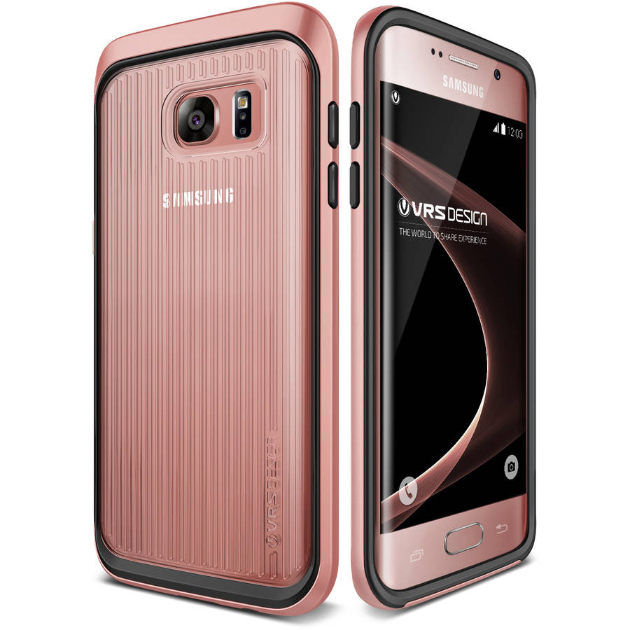 Galaxy S7 Edge Case Clear Cover Case by VRS Design Triple Mixx, Satin Silver