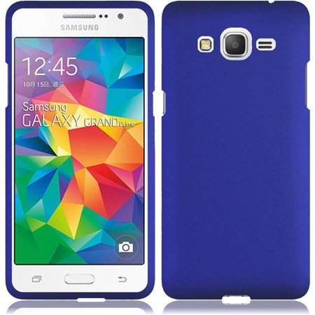 Rubberized Blue Snap - For Samsung Grand Prime LTE Go Prime G530 Rubberized Snap On Plastic Case - Blue
