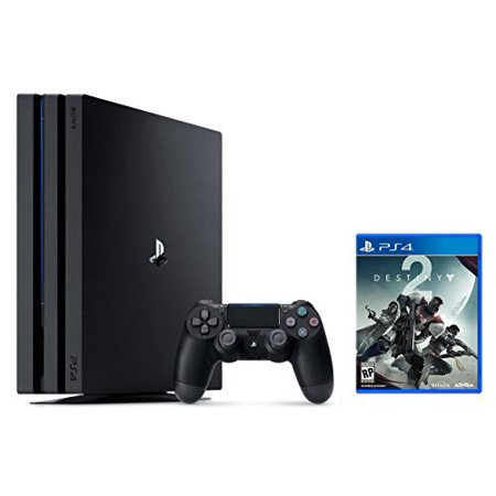 Ps4 Pro Bundle  2 Items   Playstation 4 Pro 1Tb Console Jet Black And Destiny 2 Game Disc