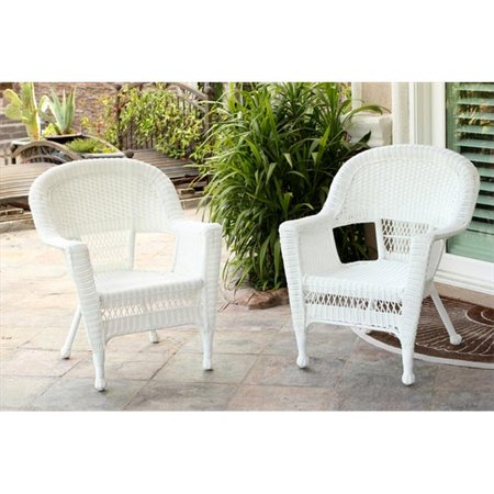 Swell Jeco W00206 C White Wicker Chair Gmtry Best Dining Table And Chair Ideas Images Gmtryco