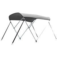 Leader Accessories 12 Colors 3 Bow Bimini Top Boat Cover Includes Mounting Hardwares with 1 Inch Aluminum Frame