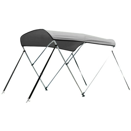 Aluminum 12 Volt Outdoor Step - Leader Accessories 12 Colors 3 Bow Bimini Top Boat Cover Includes Mounting Hardwares with 1 Inch Aluminum Frame