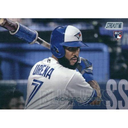 2018 Topps Stadium Club #102 Richard Urena Toronto Blue Jays Rookie Baseball Card - *GOTBASEBALLCARDS Toronto Blue Jay Stadium