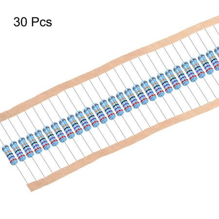 résistance film métal 270k Ohm 1W 1% Tolérance 5 bande couleur Pack 30 - image 3 de 4