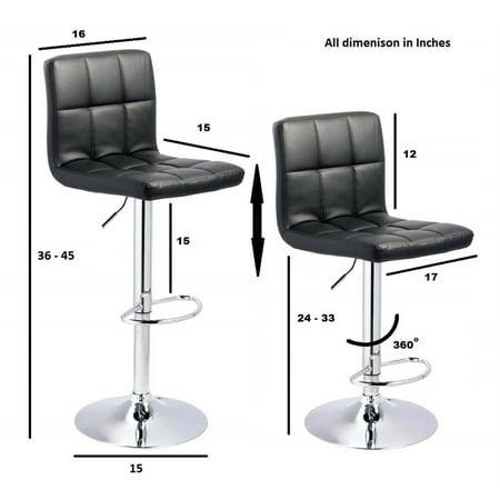 ViscoLogic Series LIBERTY Adjustable Height Swivel Bar Stool (Set of 2 Bar Stools - Brown) - image 3 of 6