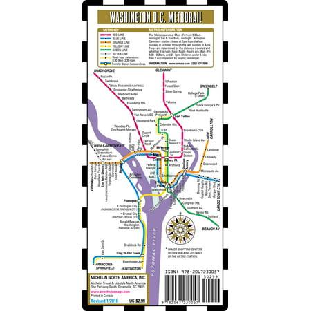 Streetwise washington dc metro map - laminated metro map of washington, dc - folded map: 9782067230057 Metro Transit Map