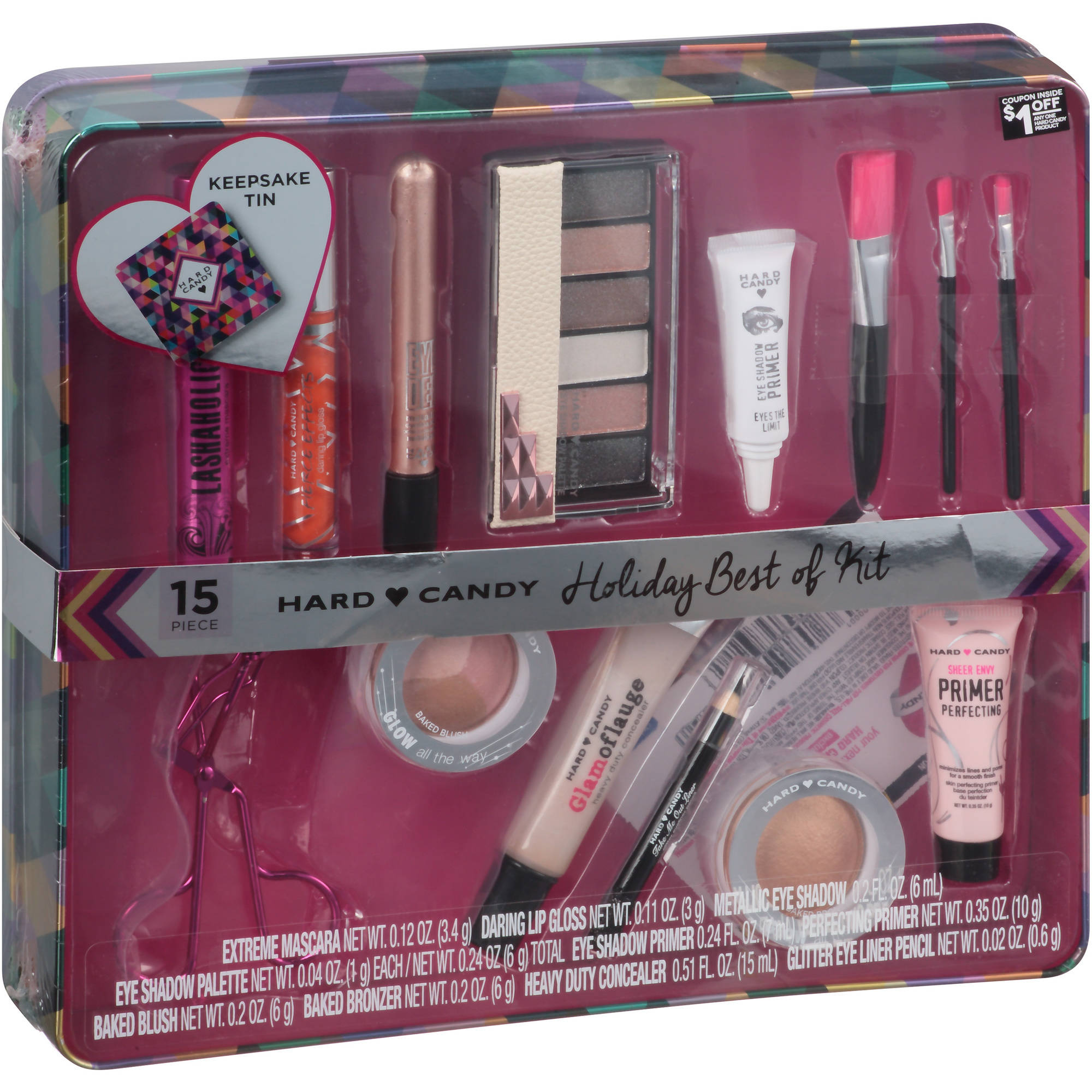 Hard Candy Holiday Best of Kit Gift Set, 15 pc