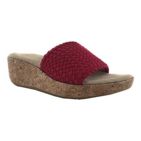 Adrienne Vittadini Davis Slide Wedge Sandal (Women's) wJbieAH