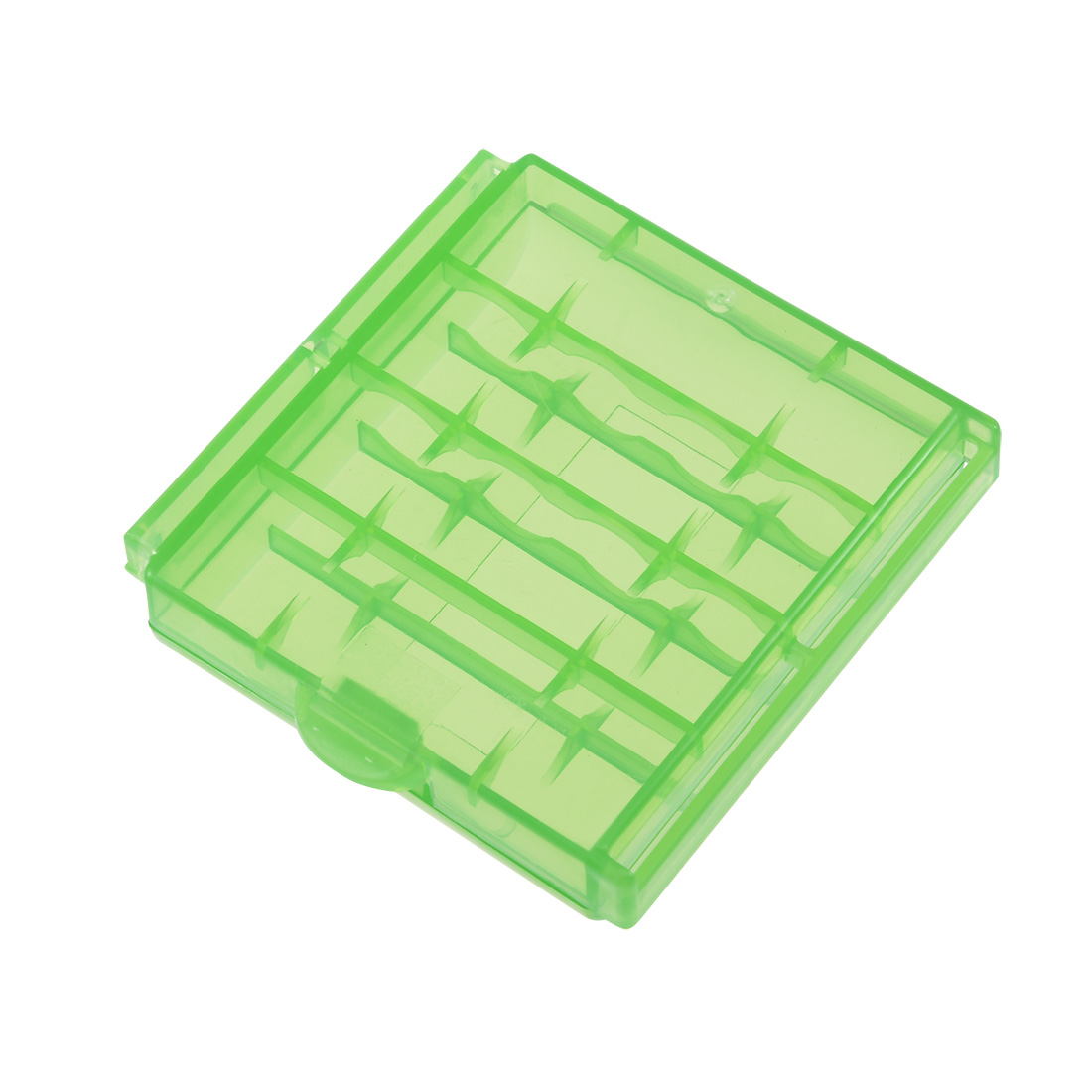 Unique Bargains Portable Battery Storage Case Container Compartment Green for AAA/AA Batteries - image 3 of 4
