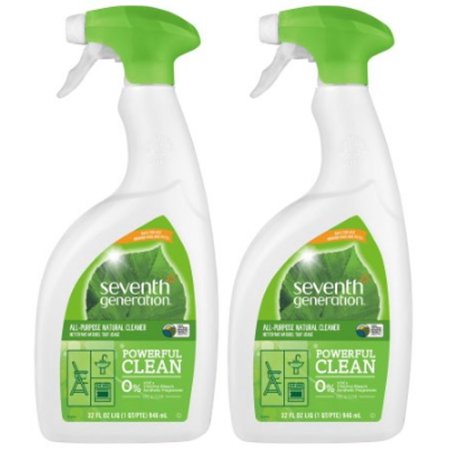 (2 Pack) Seventh Generation Free & Clear All Purpose Cleaner Fragrance Free 32 oz