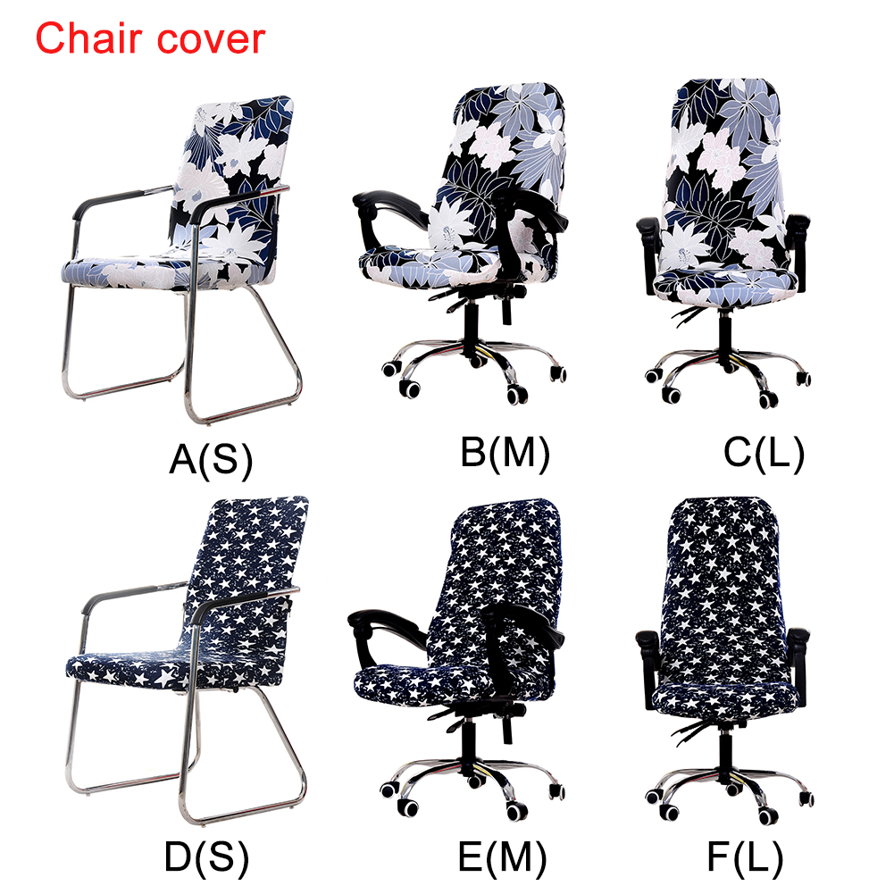 Stretch Removable Washable Short Dining Chair Protector Cover Slipcover  Computer Office Chair Covers, Removable Washable Anti Dust Desk Chair Seat  Cushion ...