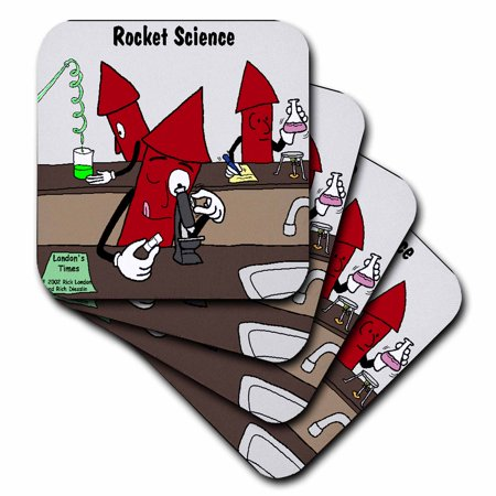 3dRose Rocket Science , Soft Coasters, set of (Science Coasters)