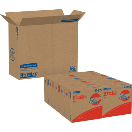 Wypall, KCC41455CT, X70 Wipers Pop-up Box, 1000 / Carton, White