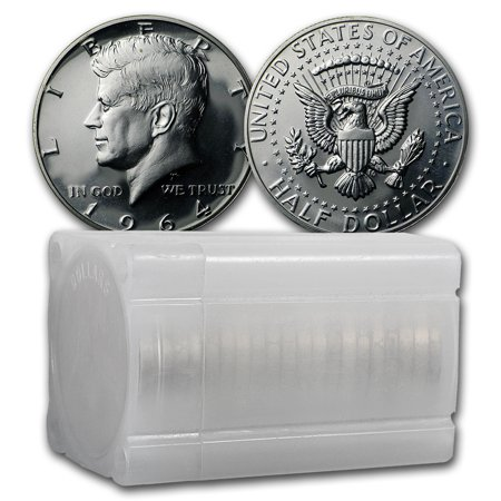 1964 Kennedy Half Dollar 20-Coin Roll Proof (Proof Kennedy Half Dollar Roll)
